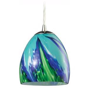 mini pendant light with blue glass 31445 1tb