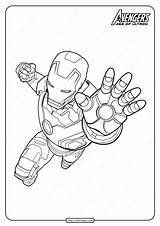 Coloring Pages Marvel Avengers Iron Pdf Superhero sketch template