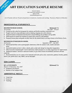 resume sample for art education resumecompanioncom With art teacher resume template