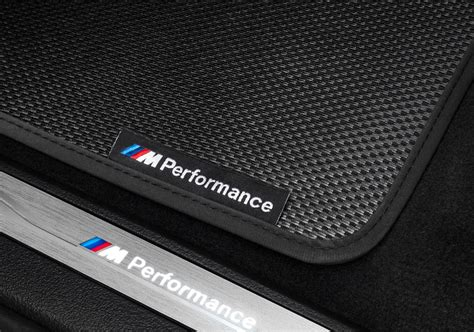 bmw  performance carbon weave floor mats rear   xm
