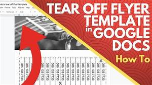 Tear Off Flyer Template Google Docs - How To
