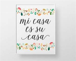 Mi Casa Is Su Casa : mi casa es su casa print wall decor art spanish colorful ~ Eleganceandgraceweddings.com Haus und Dekorationen