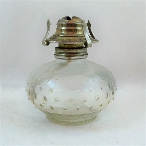 vintage llight farms hobnail glass oil l lantern