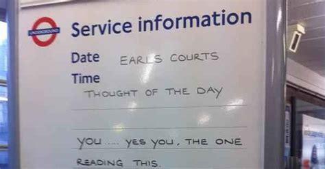 london underground messages  commuting