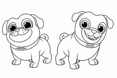 Coloring Dog Bingo Rolly Pals Puppy Printable