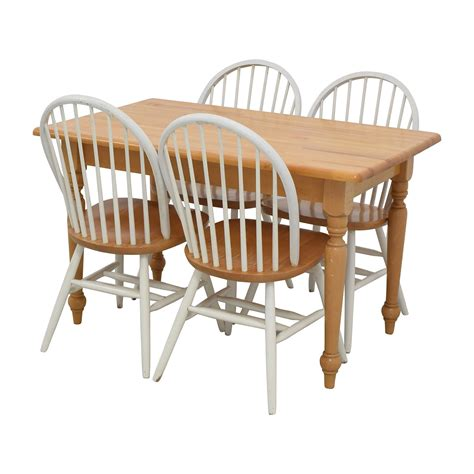 kitchen table and chairs at ok furniture 84 butcher block kitchen table and four chairs tables