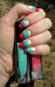 gradient nails tutorial results blue skies for me