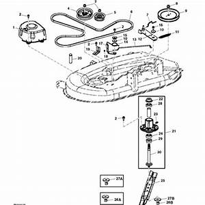John Deere 42 U0026quot  100 Series Deck Parts Diagram