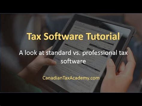 Tax Software Tutorial  A Look At Standard Vs Professional