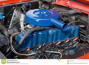 1966 Ford Mustang 6 Cylinder Engine 200 Stock Photo