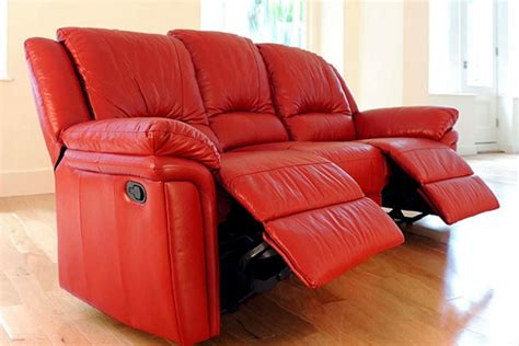 red sectional sofa with recliner buy red leather recliner sofa in lagos nigeria