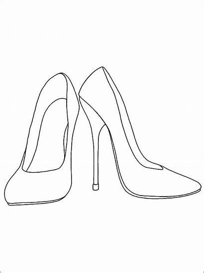 Colorear Coloring Zapatos Drawing Heels Kleurplaten Dibujos