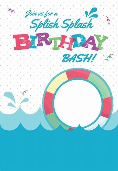 Invitations Party Templates Invitation Pool Printable Splash