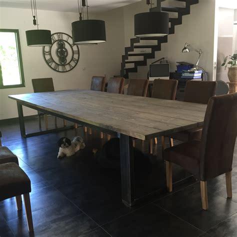 cuisine avec table à manger impressionnant table salle a manger bois vieilli avec