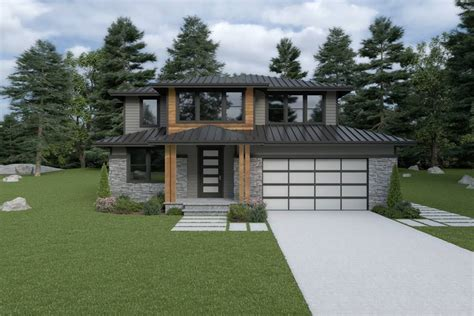 story contemporary style house plan