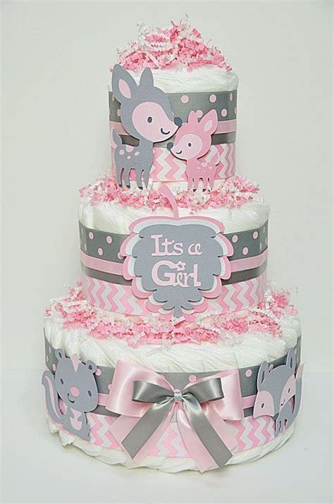 pink  gray chevron baby shower baby girl pink