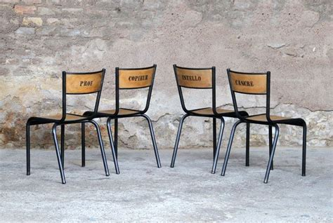chaises anciennes anciennes chaises d écoles rénovées et relookées idée