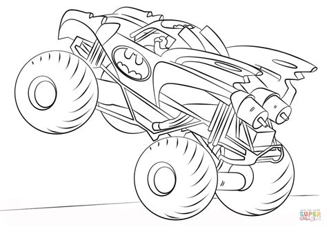 monster trucks coloring pages batman monster truck coloring page free printable