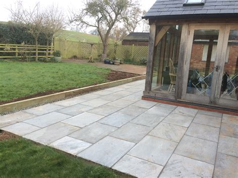 sandstone patio grey indian sandstone patio redmarley gloucestershire pave your way
