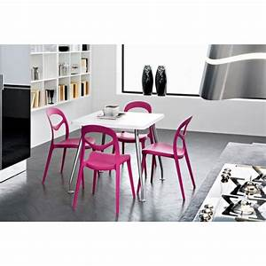 Chaise cuisine plastique design bricolage maison et for Deco cuisine avec chaise plastique