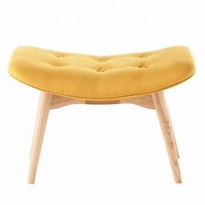pouf repose pieds vintage en tissu jaune iceberg maisons With couleur de maison tendance exterieur 9 petit fauteuil en tissu jaune vintage maison du monde