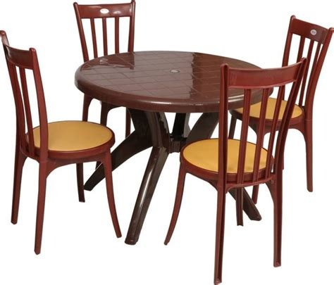 Dining Table Chairs Price by Supreme Teak Wood Plastic Table Chair Set Price In India