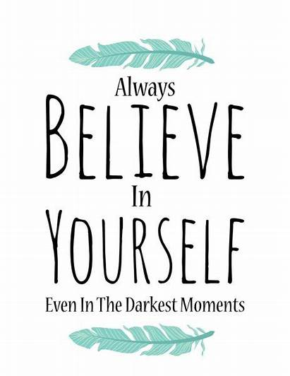 Quotes Background Believe Yourself Poster Vector Depositphotos