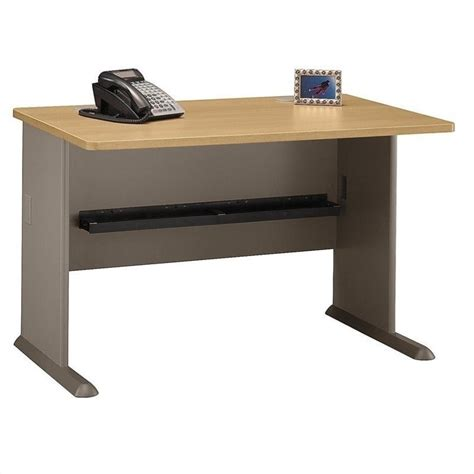 light wood office desk bush bbf series a 48 quot wood office w hutch light oak