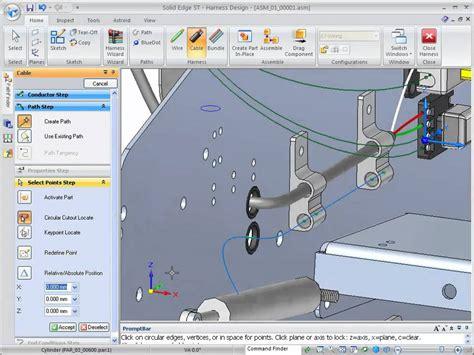 solid edge st2 ironeagle wire harness design part 1