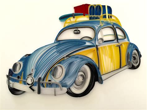 Paper Quilled Volkswagen Beetle On Behance