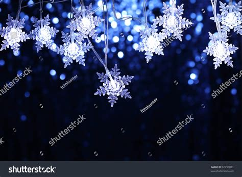 snowflake light show snowflake lights copyspace stock photo 82798081