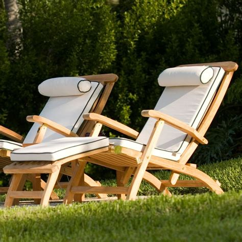 Outdoor Deck Chairs by Barbuda Classic Teak Steamer Deck Chair Westminster Teak