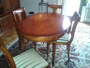 Esszimmertisch Mit 6 Stühlen : hallo ich verkaufe einen esszimmertisch mit 6 stuehlen aus kirschbaumholz von warrings ~ Eleganceandgraceweddings.com Haus und Dekorationen