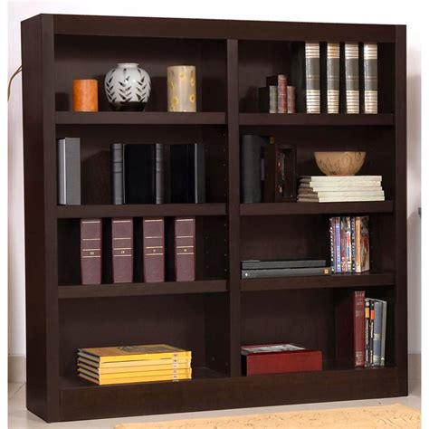 48 High Bookcase by Grundy 48 Quot High Espresso Finish Wide Bookcase