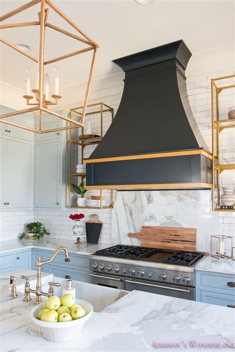 blue kitchen backsplash kitchen white marble calcutta gold open shelves gold black