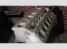 BMW M73 V12 engine from an E38 750iL YouTube