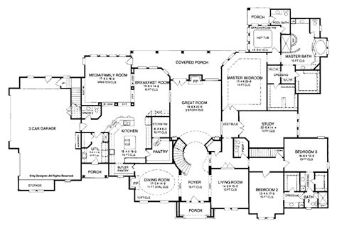 One Story House Plans With Large Kitchens by 4 5 Bedroom One Story House Plan With Exercise Room