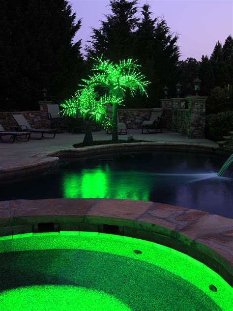 lighted palm trees  led palm tree natural green