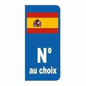 Etiquette Plaque Immatriculation : sticker plaque immatriculation drapeau espagne etiquette autocollant ~ Gottalentnigeria.com Avis de Voitures