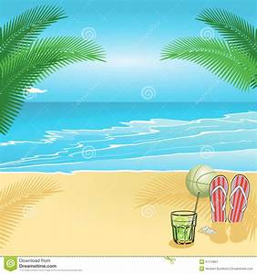 Summer Beach Scene Clipart (38+)