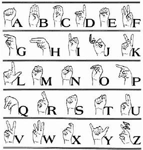 printable sign language alphabet With alphabet letter signs