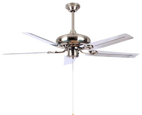modern white blade ceiling fan light 50 quot for living room