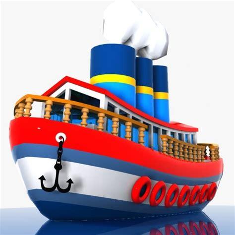 Cartoon Boat C4d by 3d Cartoon Ship Toon
