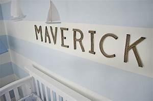 maverick39s nautical nursery project nursery With rope letters for nursery