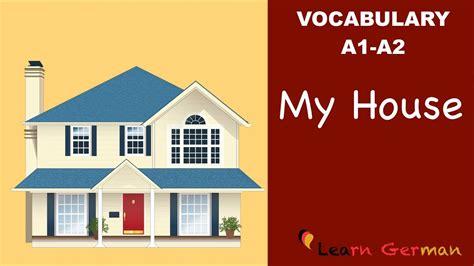 Learn German  Learn German Vocabulary  My House (mein