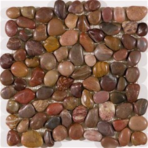 Small Brown River Stone Mosaic