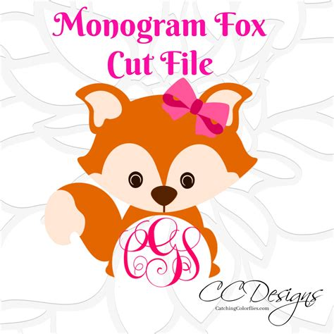 Are you getting ready for the fall season? Circle Monogram Baby Fox SVG & DXF Cutting Files, Cute Fox ...