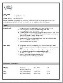 resume format for freshers mechanical engineers pdf free download network engineer resume format