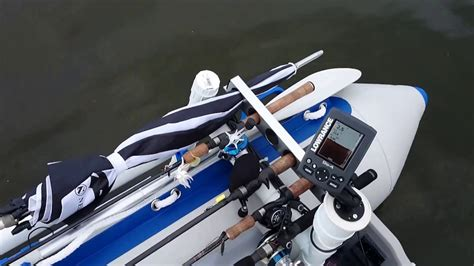 Inflatable Boat Fishing Youtube by Inflatable Boat Setup During Bass Fishing Comp Youtube