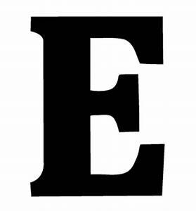Black Greek Letter E Epsilon Wall Stickers Decals Graphics